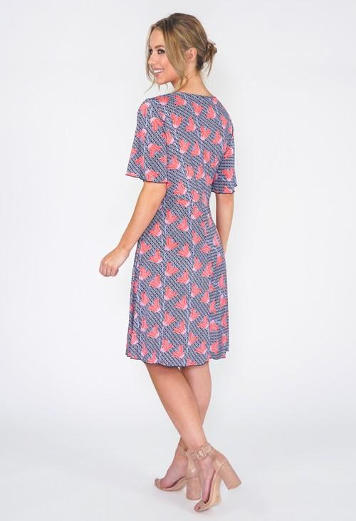 Zapara Navy Floral Dress