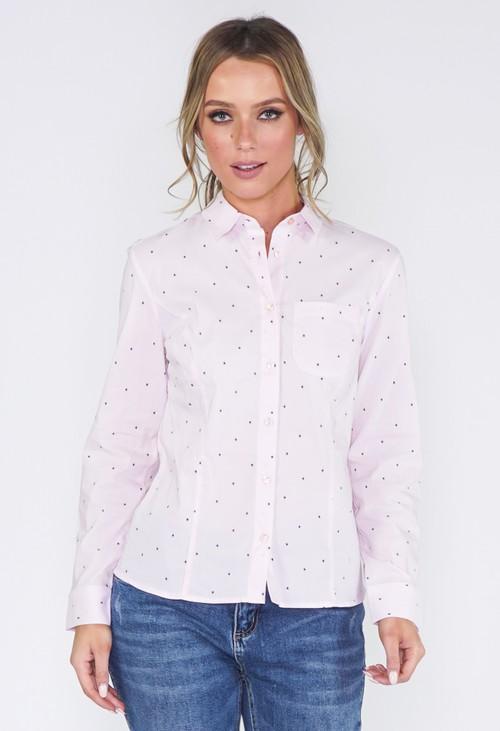 Twist Pink Star Blouse