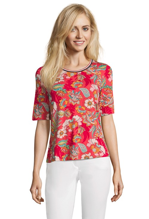 Betty Barclay Red/Rose Half Sleeve Shirt