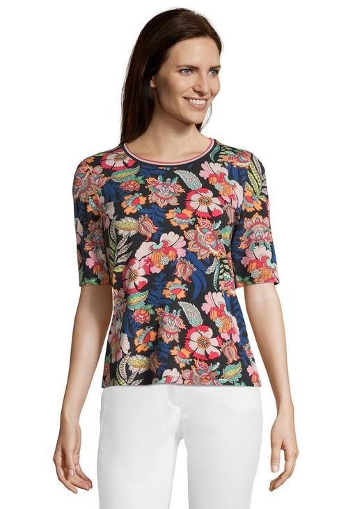 Betty Barclay Dark Blue Rose Half Sleeve Shirt