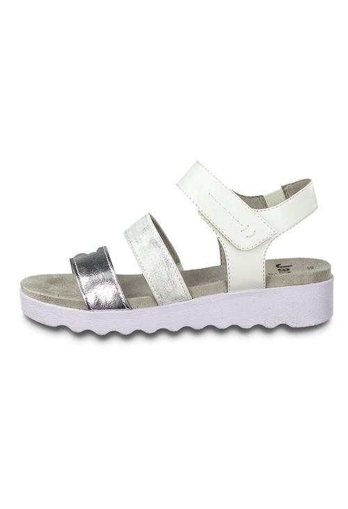 Jana Silver Twin Strap Sandal