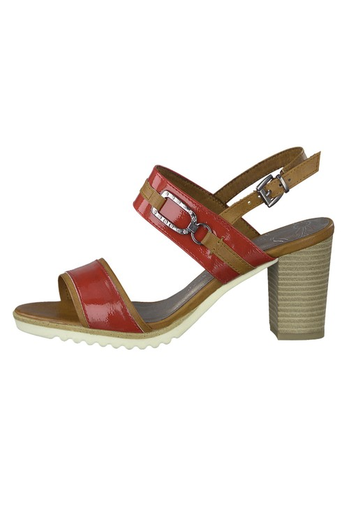 Marco Tozzi Red Patent Sandal
