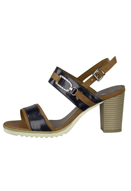 Marco Tozzi Navy Patent Sandal
