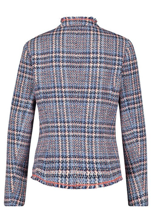 Gerry Weber CHECKED JACKET BLUE