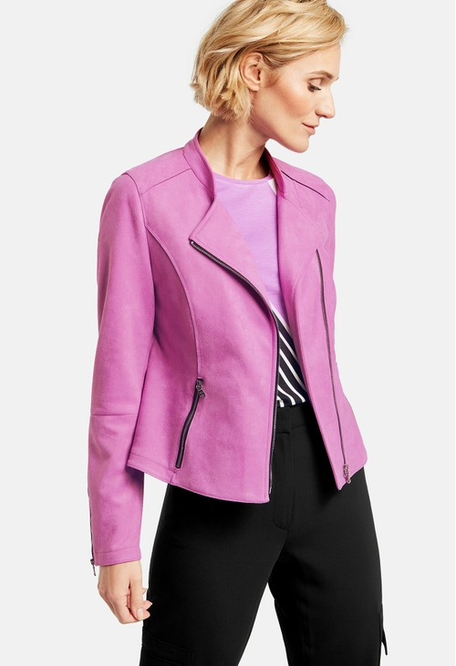 Gerry Weber Zip-up blazer with a suede feel