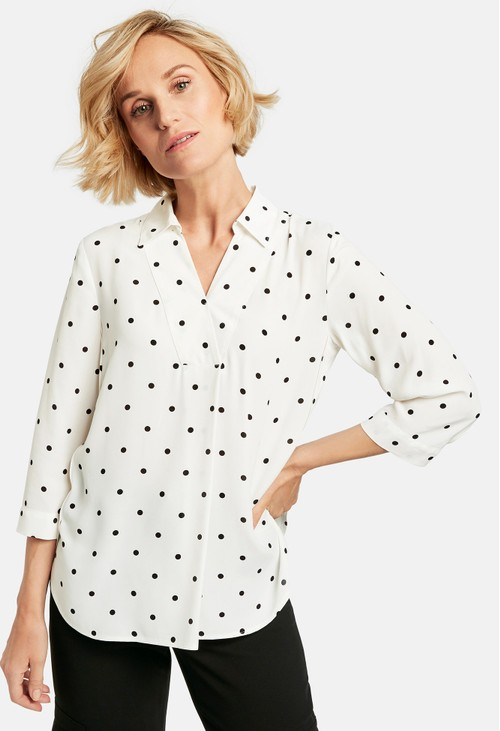 Gerry Weber Oversized blouse with polka dots