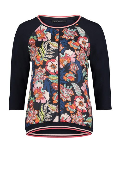 Betty Barclay Floral Print Fine Knit Sweater