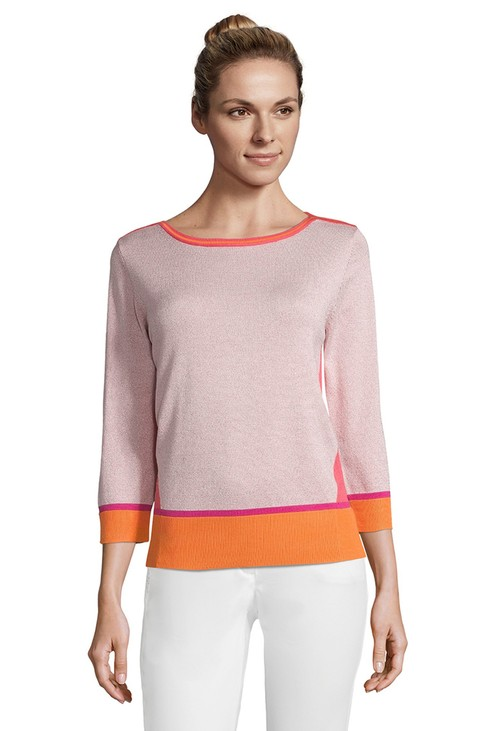 Betty Barclay Rosè / Red Block Colour Sweater