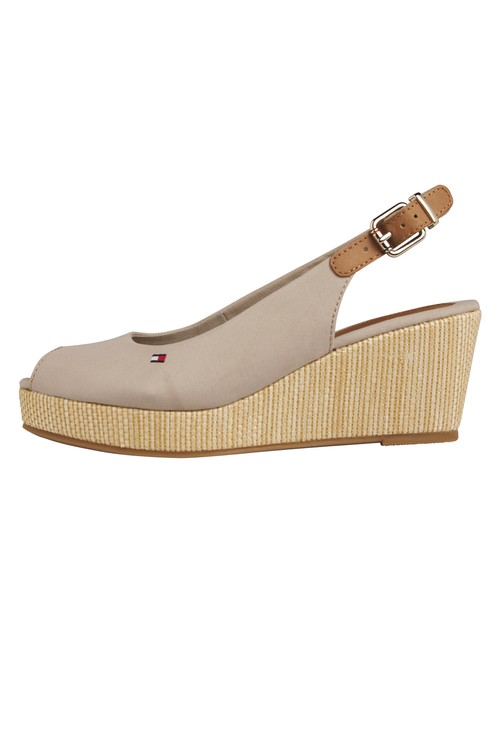 Tommy Hilfiger Stone Peep Toe Sling Back Low Wedge