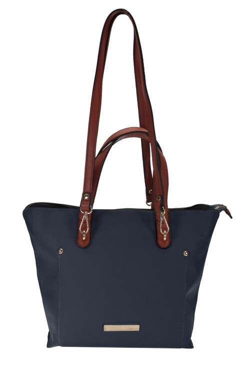 Hampton Medium Tote Bag with Dual Handle Option in Navy