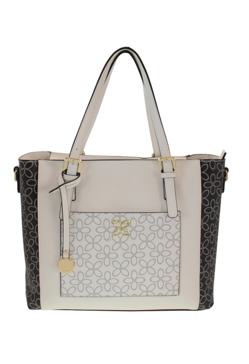 Gionni Contrast Print Tote Bag in Black And White