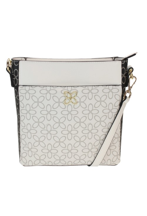 Gionni CONTRAST PRINT CROSSBODY BAG IN BLACK AND WHITE