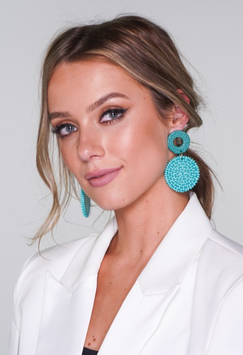Pamela Scott Turquoise Earrings