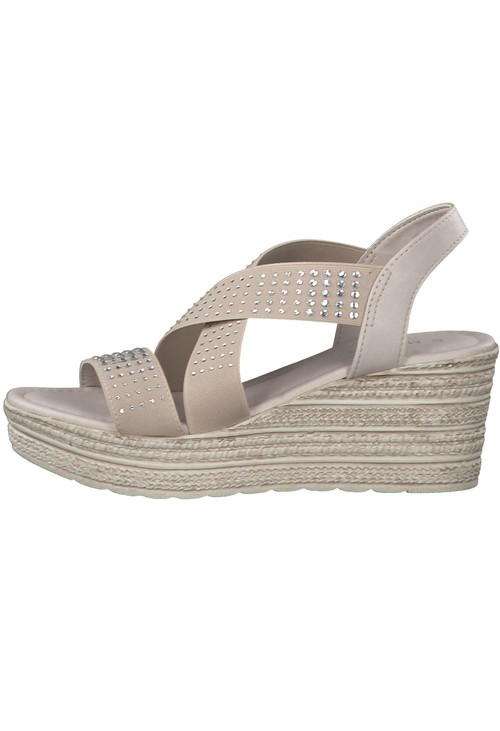 Marco Tozzi TAUPE LIGHTWEIGHT WEDGE SANDAL