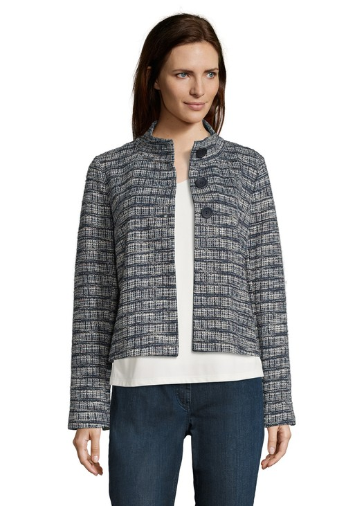 Betty Barclay jersey jacket with stand-up collar