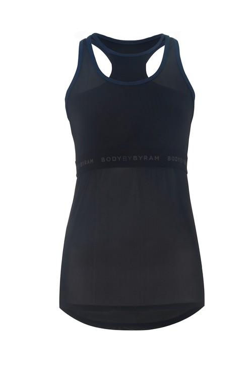BodyByByram Navy & Black Gaia Vest Top