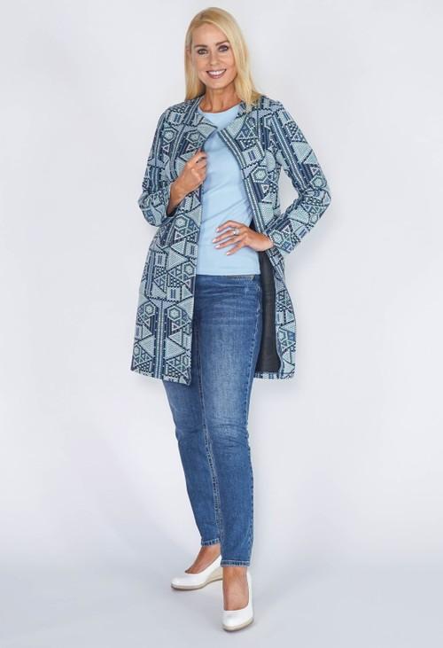 Sophie B Mint Geometric Jacket