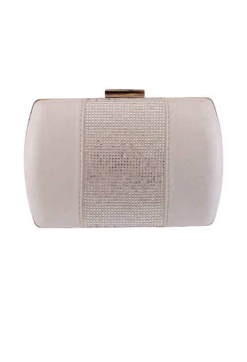 Barino Silver Gold Clutch Bag