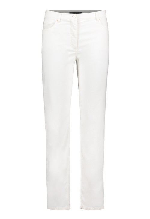 Betty Barclay Raw White Slim Fit Trousers