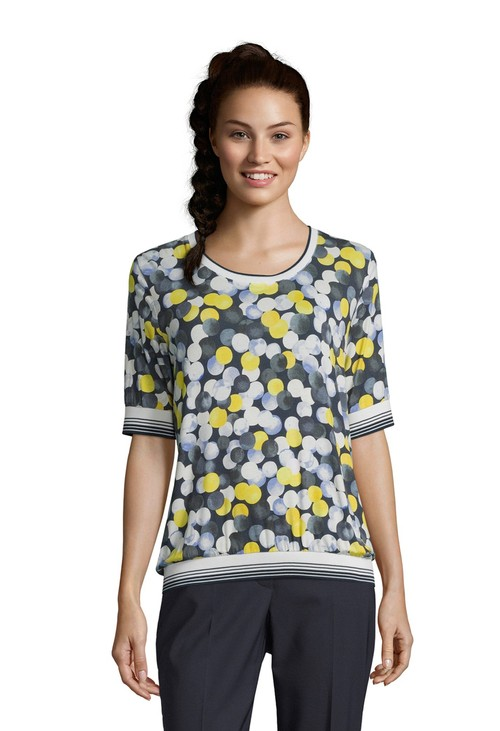 Betty Barclay Dark Blue / Yellow Sport Print Top