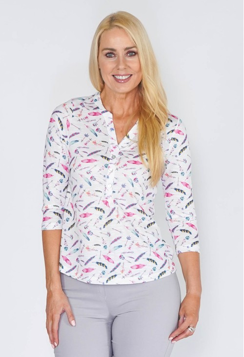 Twist Comfy Feather Top