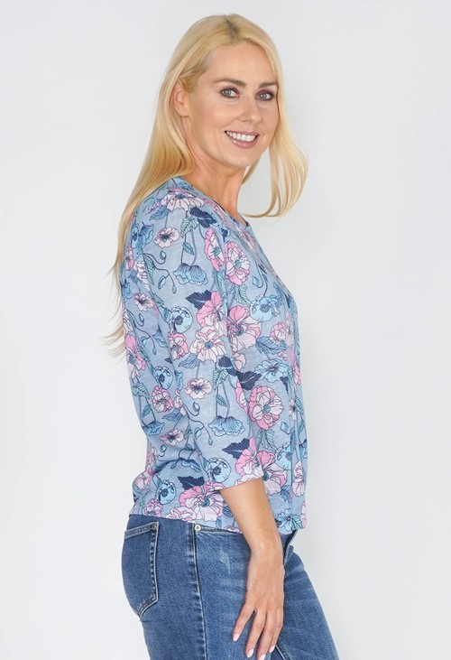 Twist Floral Comfy Top