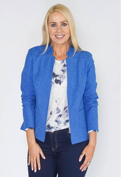 ERFO Blue Textured Jacket