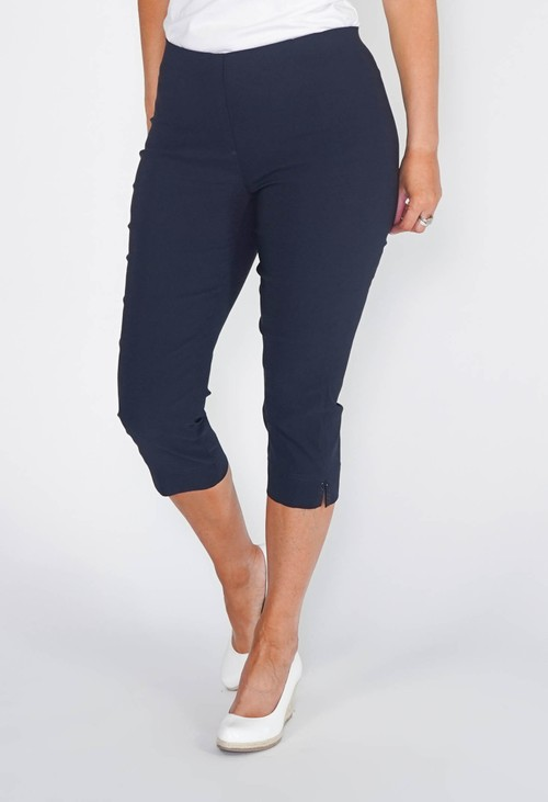 Anna Montana NAVY MAGIC SHAPE CAPRIS WITH DIAMANTE DETAIL