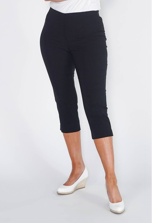 Anna Montana BLACK MAGIC SHAPE CAPRIS WITH DIAMANTE DETAIL