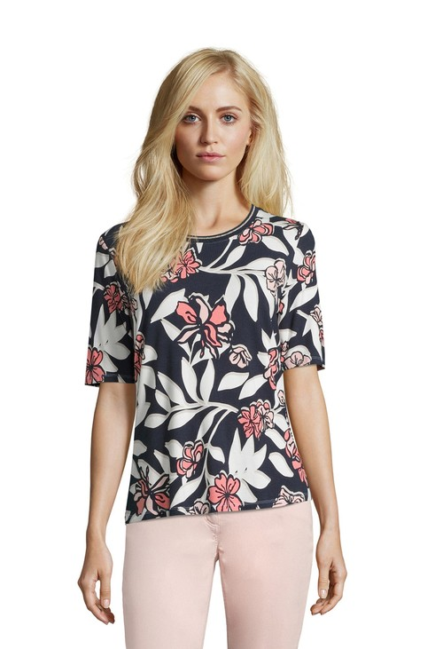 Betty Barclay FLORAL AND LEAF PRINT T-SHIRT