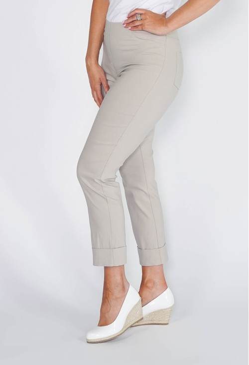 Anna Montana SAND MAGIC SHAPE CROPPED TURN UP TROUSERS