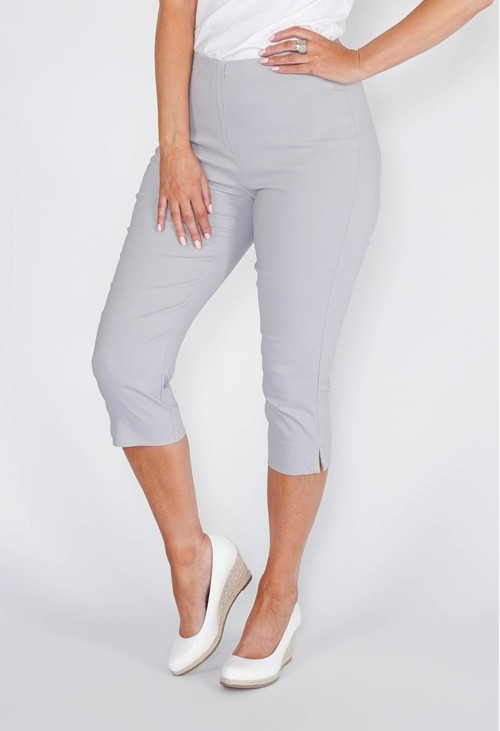 Anna Montana SILVER MAGIC SHAPE CAPRIS WITH DIAMANTE DETAIL