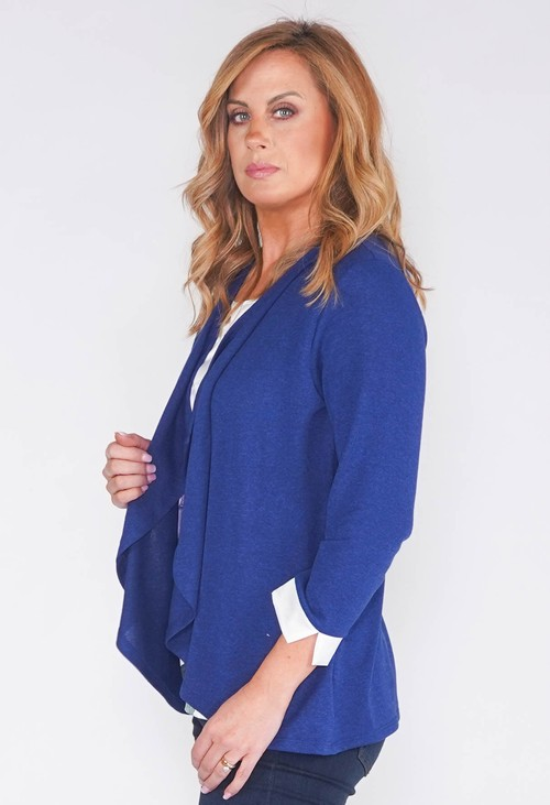 Sophie B CARDI 2 IN 1 TOP WITH SATIN FLORAL INSET