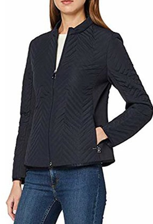 Gerry Weber light weight padded navy jacket with side panels.