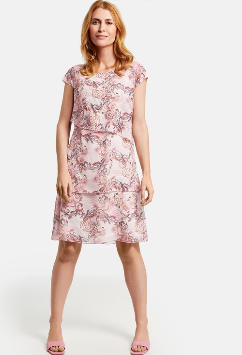 Gerry Weber printed tiered dress