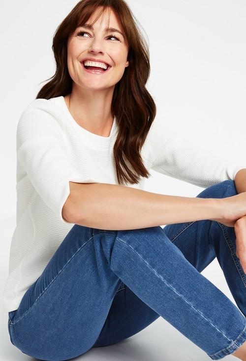 Gerry Weber five pocket jeans, straight fit jeans, light blue denim