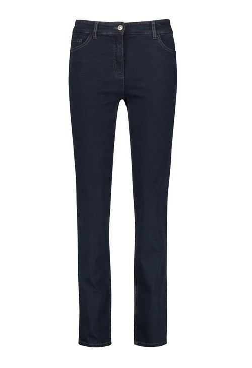 Gerry Weber five pocket jeans, straight fit jeans, dark blue denim