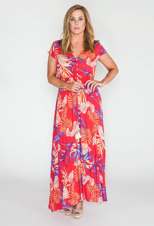 Pamela Scott printed maxi dress