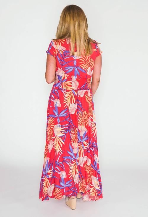 Pamela Scott printed maxi dress