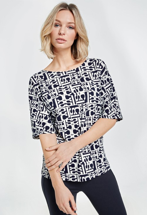 Gerry Weber round neck printed top