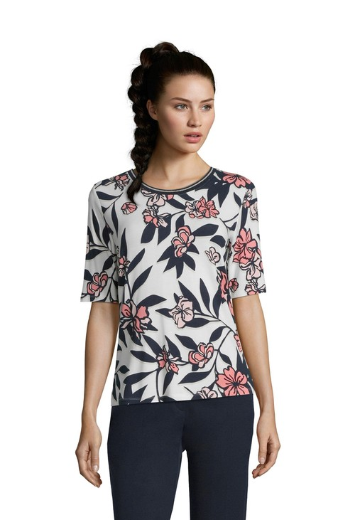 Betty Barclay FLORAL AND LEAF PRINT TOP
