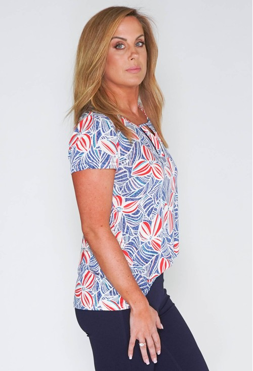 Zapara GRAPHIC FLOWER PRINT TOP