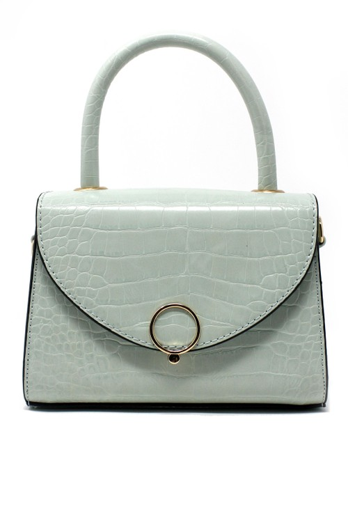 Bestini Sage Croc Mini Handbag