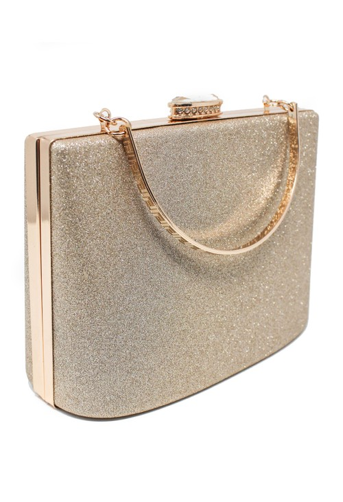 Pamela Scott Champagne Sparkle Clutch Bag