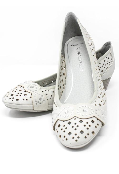 Marco Tozzi Low Heel Laser Cut Detail Shoe