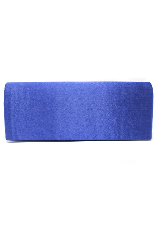 Pamela Scott SATIN CLUTCH BAG IN SAPPHIRE BLUE