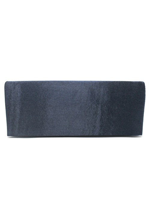 PS Accessories SATIN CLUTCH BAG IN NAVY