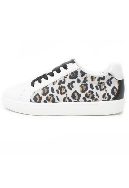 Marco Tozzi Leopard Print Comfort Trainer
