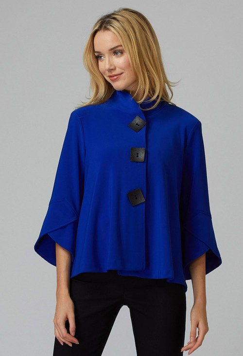 Joseph Ribkoff Royal Blue High Collar Jacket