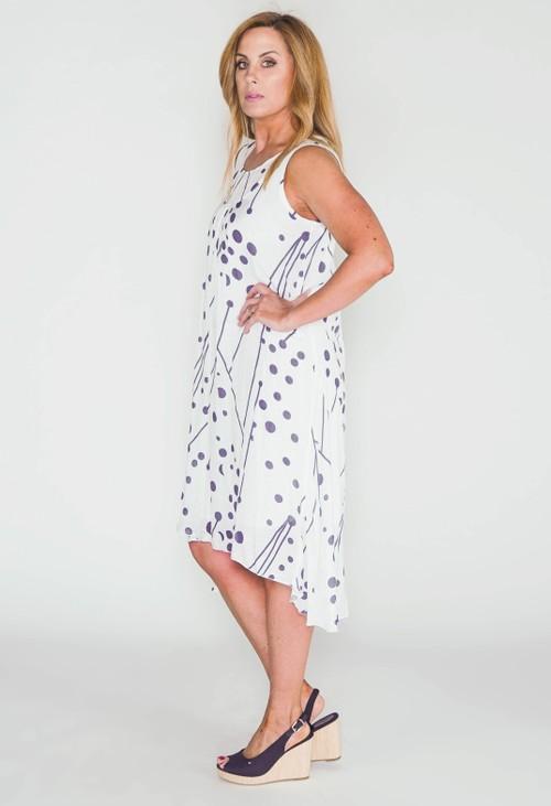 Pamela Scott polka dot smock dress